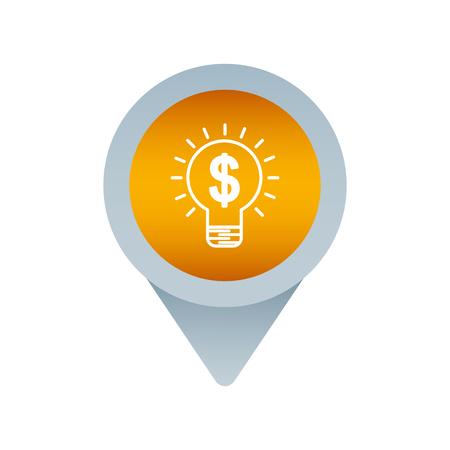 social media mark pointer for web creativity money vector illustration