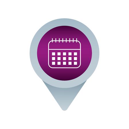 calendar social media mark pointer for web vector illustration