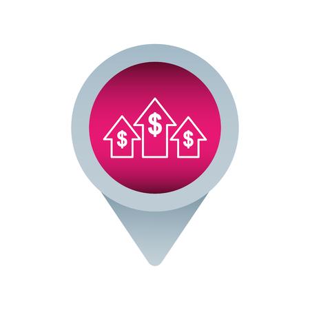 Grandir flèche flèche curseur curseur médias sociaux pour web illustration vectorielle Banque d'images - 90144478