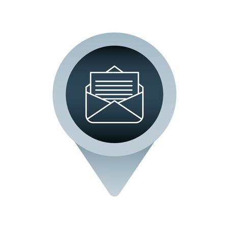message letter social media mark pointer for web vector illustration Illustration
