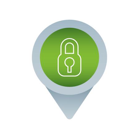 security social media mark pointer for web vector illustration