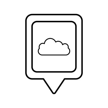 クラウド社会メディア正方形ポインター web ベクトル イラスト