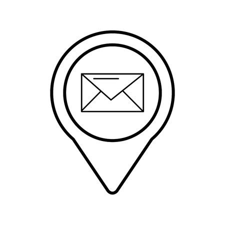 email social media round pointer web vector illustration Çizim