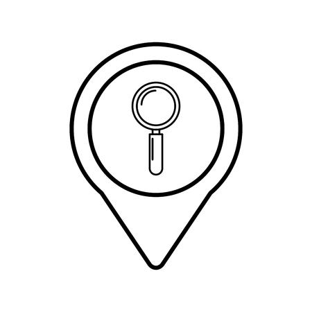 ポインター web ベクトル図ラウンド ソーシャル メディアを検索します。