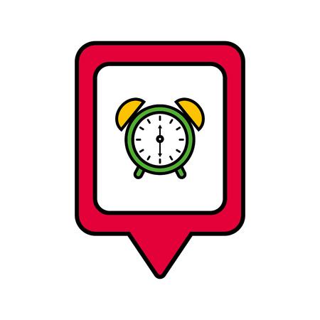 時計アラーム ソーシャル メディア正方形ポインター web ベクトル図
