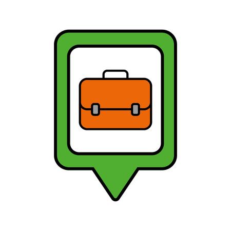 正方形のビジネス ブリーフケース ソーシャル メディア ポインター web ベクトル図  イラスト・ベクター素材