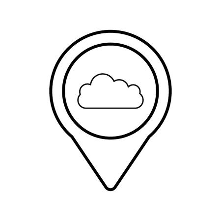 ポインター web ベクトル図ラウンド クラウド ソーシャル メディア