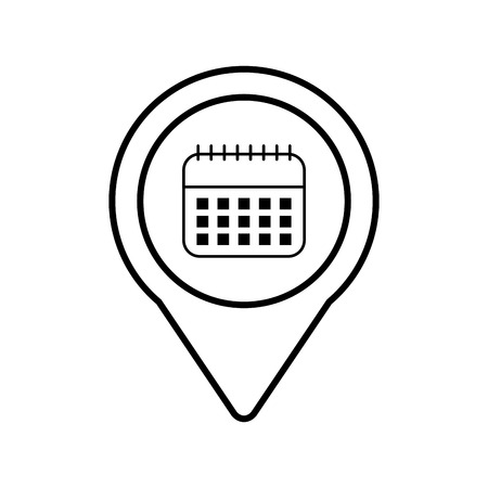 カレンダー社会的なメディア ラウンド ポインター web ベクトル図