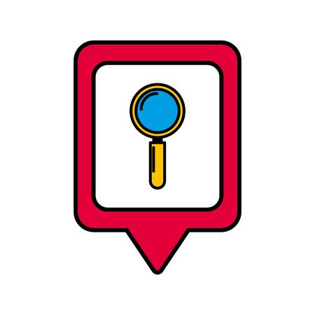 search social media square pointer web vector illustration Vectores