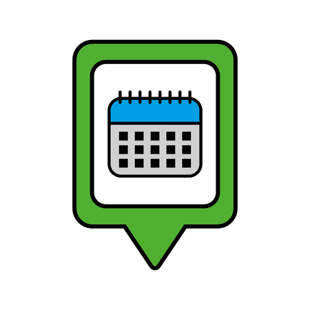 calendar social media square pointer web vector illustration