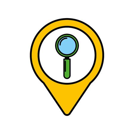 search social media round pointer web vector illustration