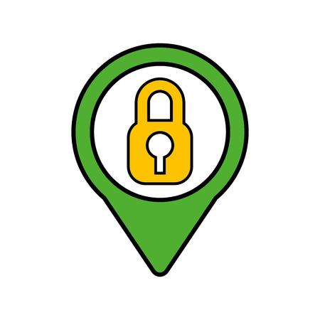 security social media pointer web vector illustration