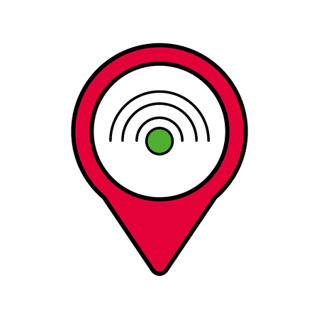 Wifi インターネット社会的なメディア ラウンド ポインター web ベクトル図 写真素材 - 90147430