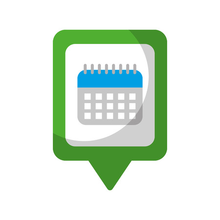 カレンダー ソーシャル メディア広場ポインター web ベクトル図