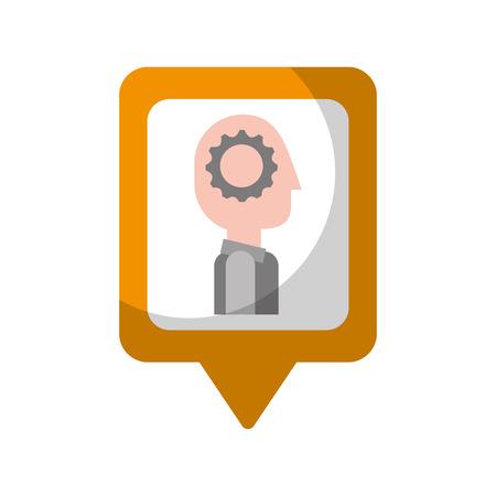 ondernemers denken proces sociale media vierkante wijzer web vector illustratie