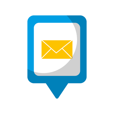 email social media square pointer web vector illustration
