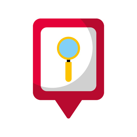 Zoek sociale media vierkante aanwijzer web vectorillustratie Stockfoto - 90147475