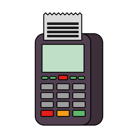 dataphone transaction payment shop online icon vector illustration Ilustração