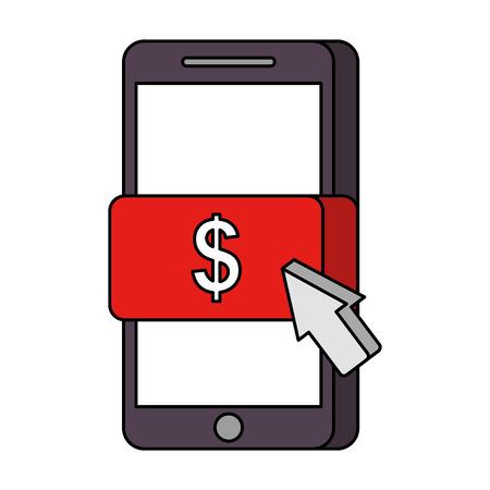 mobile phone online payment technology vector illustration Ilustração