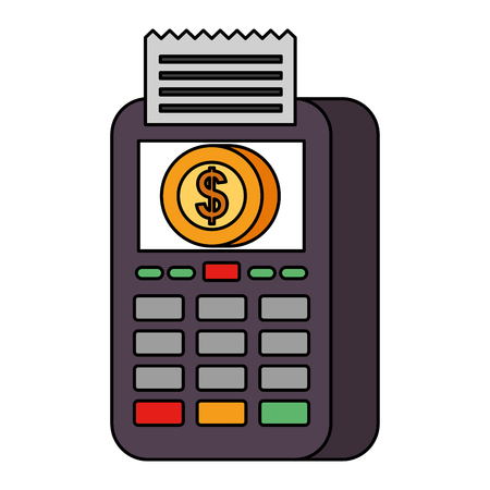 payment online dataphone coin money digital vector illustration