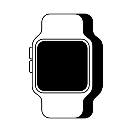 smart watch device technology wireless vector illustration  イラスト・ベクター素材