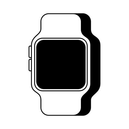 Smart Watch Gerät Technologie Wireless Vektor-Illustration Standard-Bild - 90147940