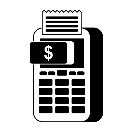 payment online dataphone money button digital vector illustration