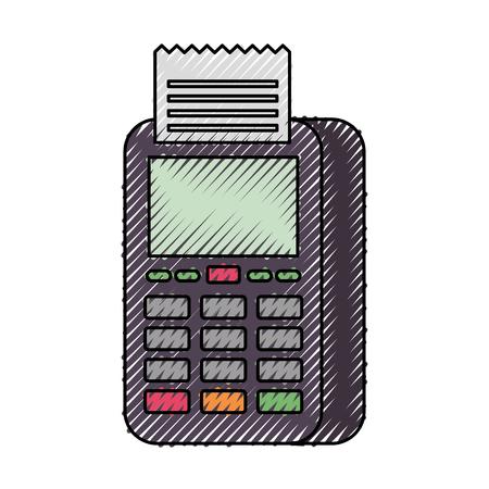 dataphone transaction payment shop online icon vector illustration Ilustrace