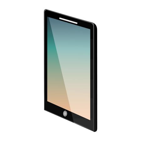 장치 기술 태블릿 컴퓨터 가제트 벡터 일러스트 레이션