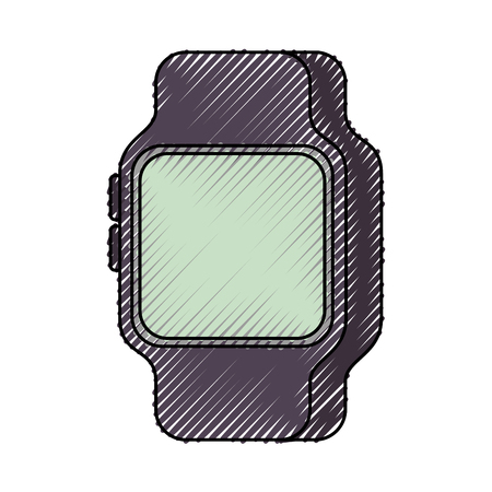 Smart Watch Gerät Technologie Wireless Vektor-Illustration Standard-Bild - 90151139
