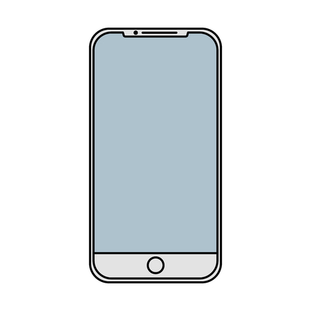 mobile phone gadget technology touch screen vector illustration Ilustração