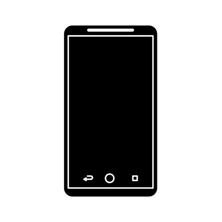 mobile phone gadget technology touch screen vector illustration Illustration