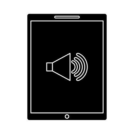 device technology tablet computer sound volume button vector illustration Illustration