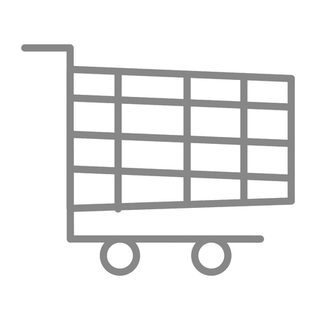shopping cart icon image vector illustration design Stock Vector - 90151735