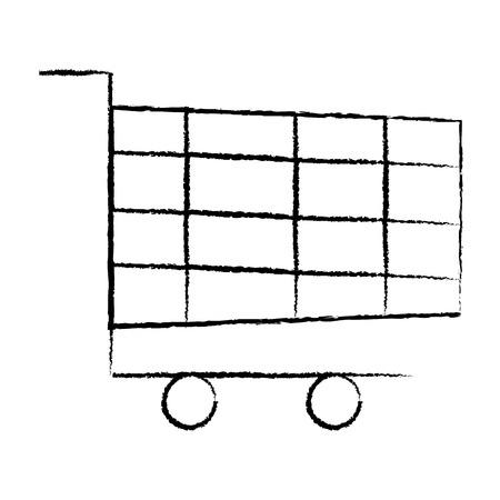 shopping cart icon image vector illustration design  black sketch line Illustration