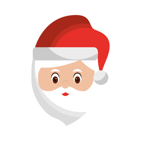 santa claus head christmas related icon image vector illustration design  Illustration