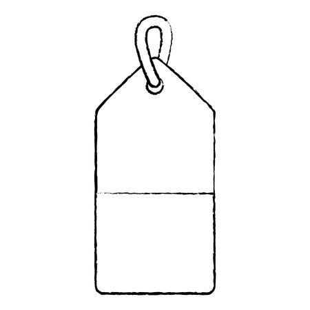 blank tag icon image vector illustration design  black sketch line