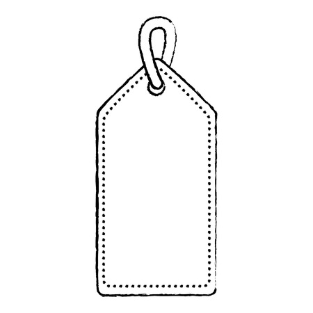 blank tag icon image vector illustration design  black sketch line