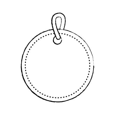 Icône de balise blank image vectorielle ligne noire design croquis illustration Banque d'images - 90143510
