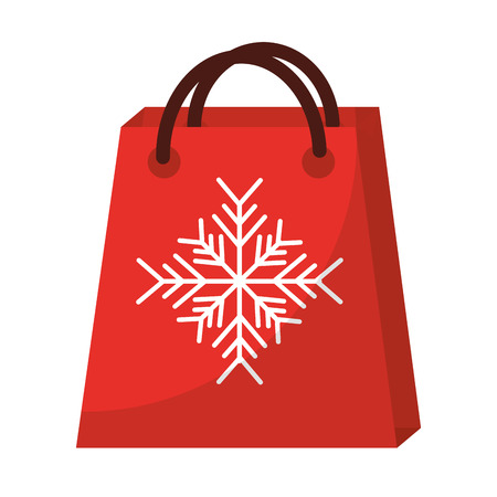shopping bag with snowflake icon image vector illustration design
