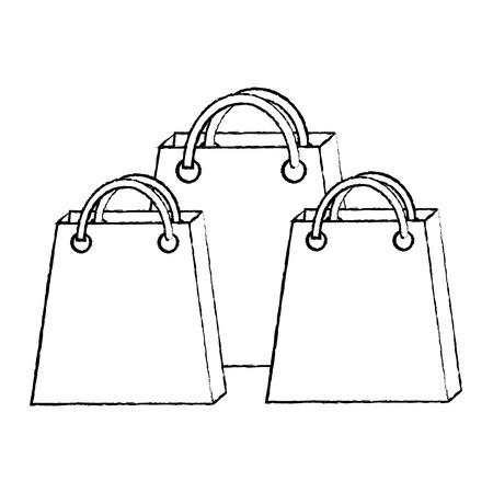shopping bag icon image vector illustration design  black sketch line Illustration