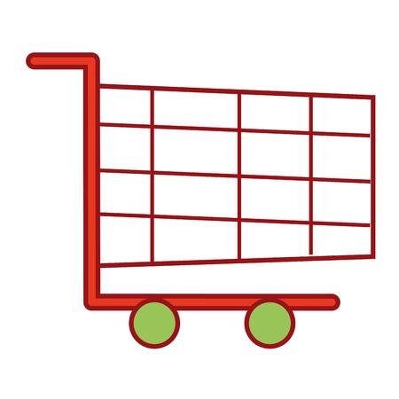 shopping cart online marketing chirstmas design vector illustration Illustration