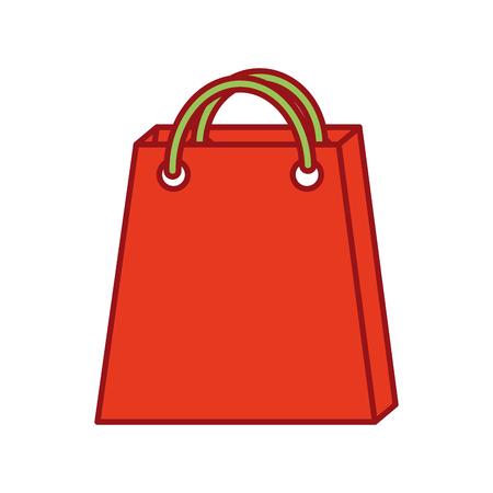 christmas paper bag gift shopping season vector illustration Illustration