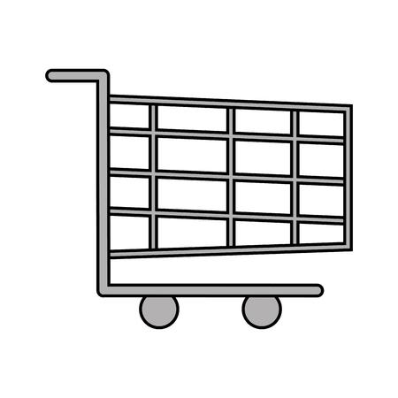 Warenkorb online App Besteck Design Vektor-Illustration Standard-Bild - 90148350