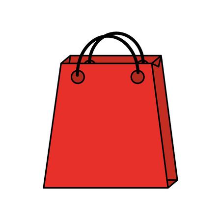 Christmas paper bag gift shopping season vector illustration