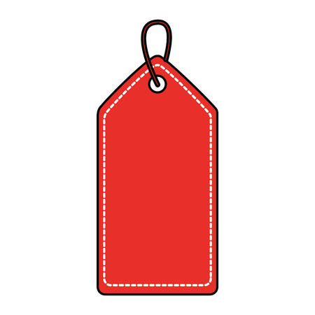 christmas price tag with hanger sale promotion and gift card vector illustration