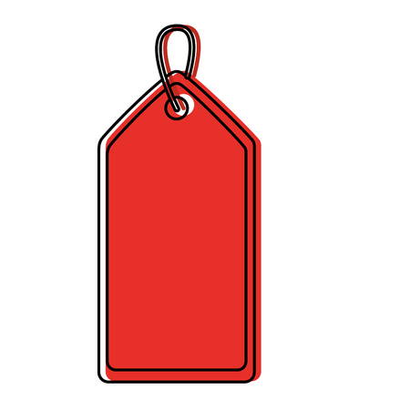 blank tag icon image vector illustration design