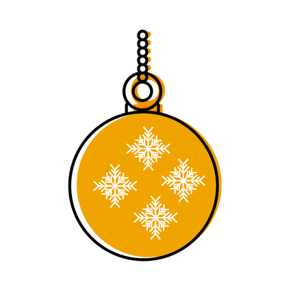 balls ornament christmas related icon image vector illustration design