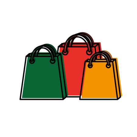 shopping bags icon image vector illustration design  Illustration