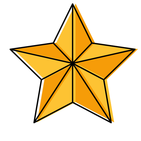 star with relief and shadows icon image vector illustration design